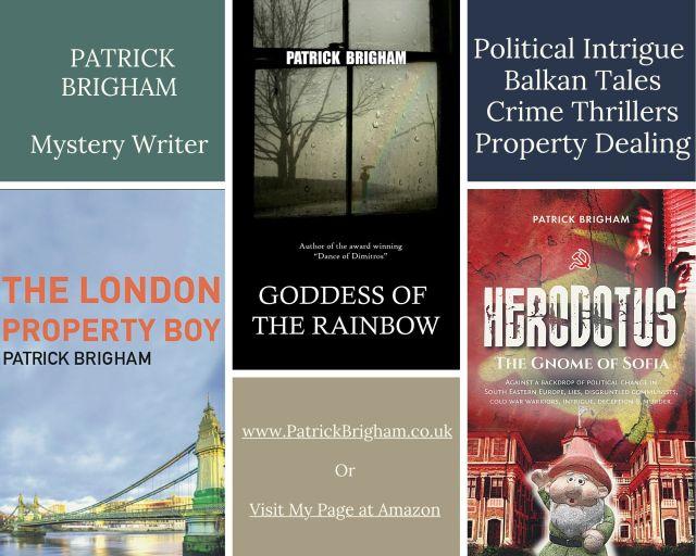 PATRICK BRIGHAM Mystery Writer